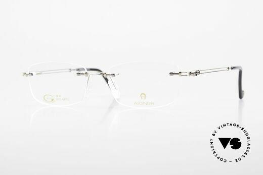 Aigner EA498 Rimless 90's Glasses Unisex Details