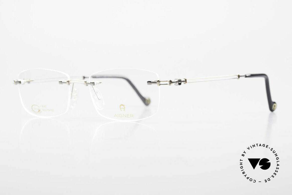 Aigner EA498 Rimless 90's Glasses Unisex, top-notch quality and very pleasant to wear; lightweight, Made for Men and Women