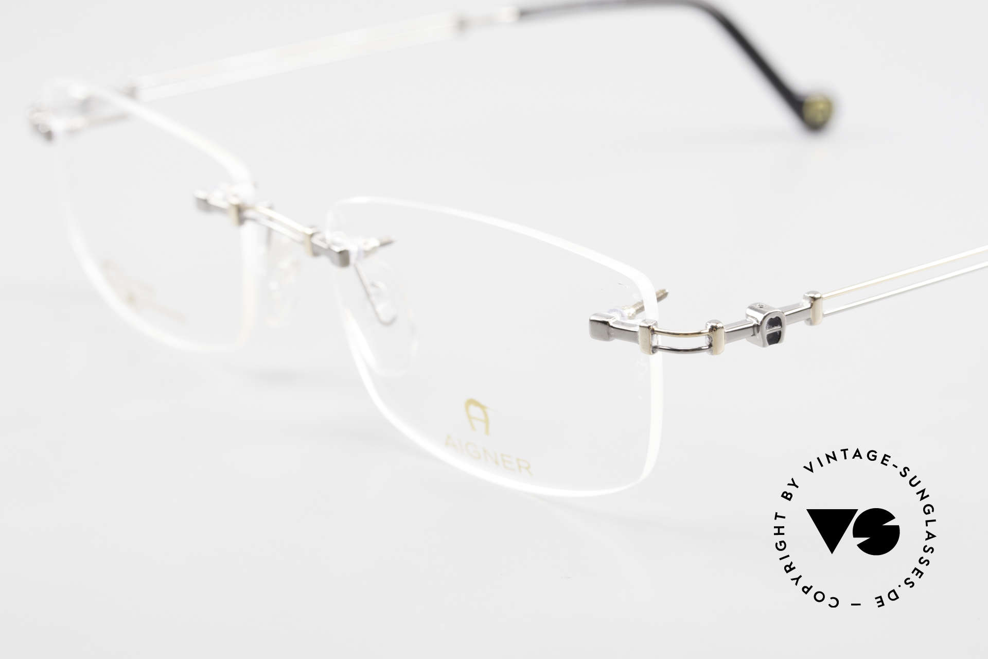 Aigner EA498 Rimless 90's Glasses Unisex, allergy-free and 18kt gold-plated parts; made in Germany, Made for Men and Women