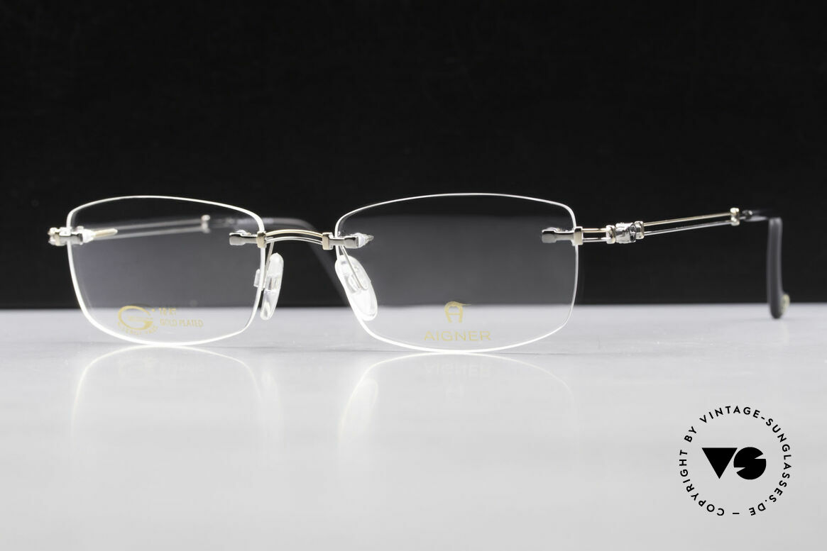 Aigner EA498 Rimless 90's Glasses Unisex, Size: medium, Made for Men and Women