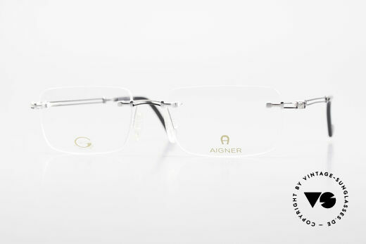Aigner EA496 Rimless 90's Vintage Glasses Details