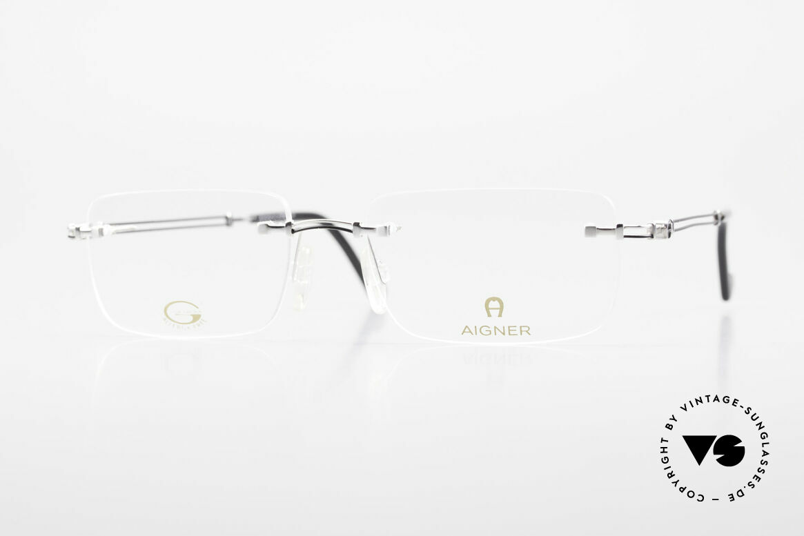 Aigner EA496 Rimless 90's Vintage Glasses, rimless AIGNER vintage glasses, EA496, size 54/18, 140, Made for Men