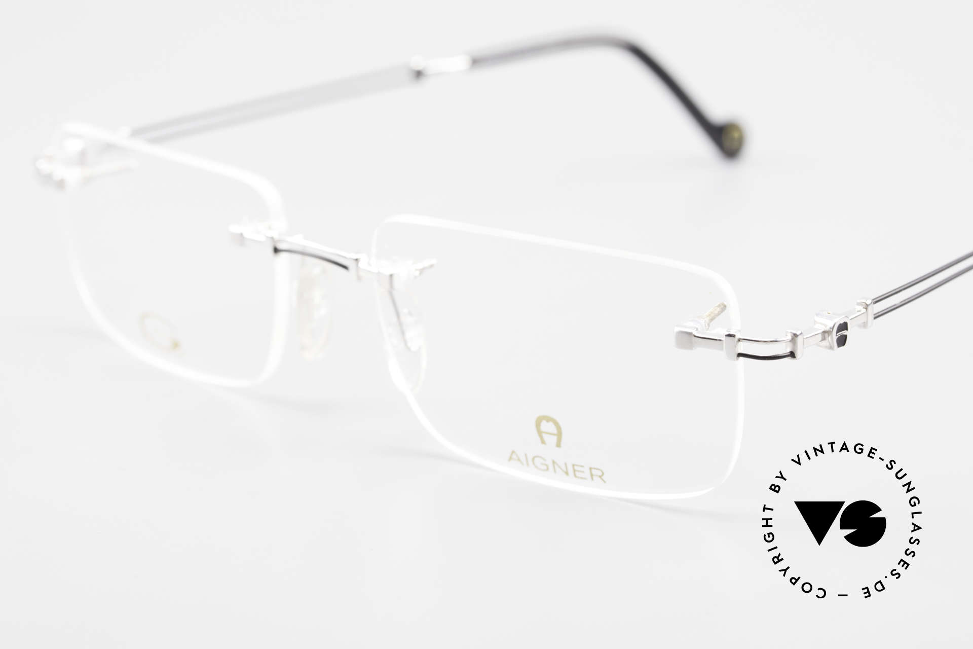 Aigner EA496 Rimless 90's Vintage Glasses, craftsmanship, made in Germany, can be glazed optionally, Made for Men