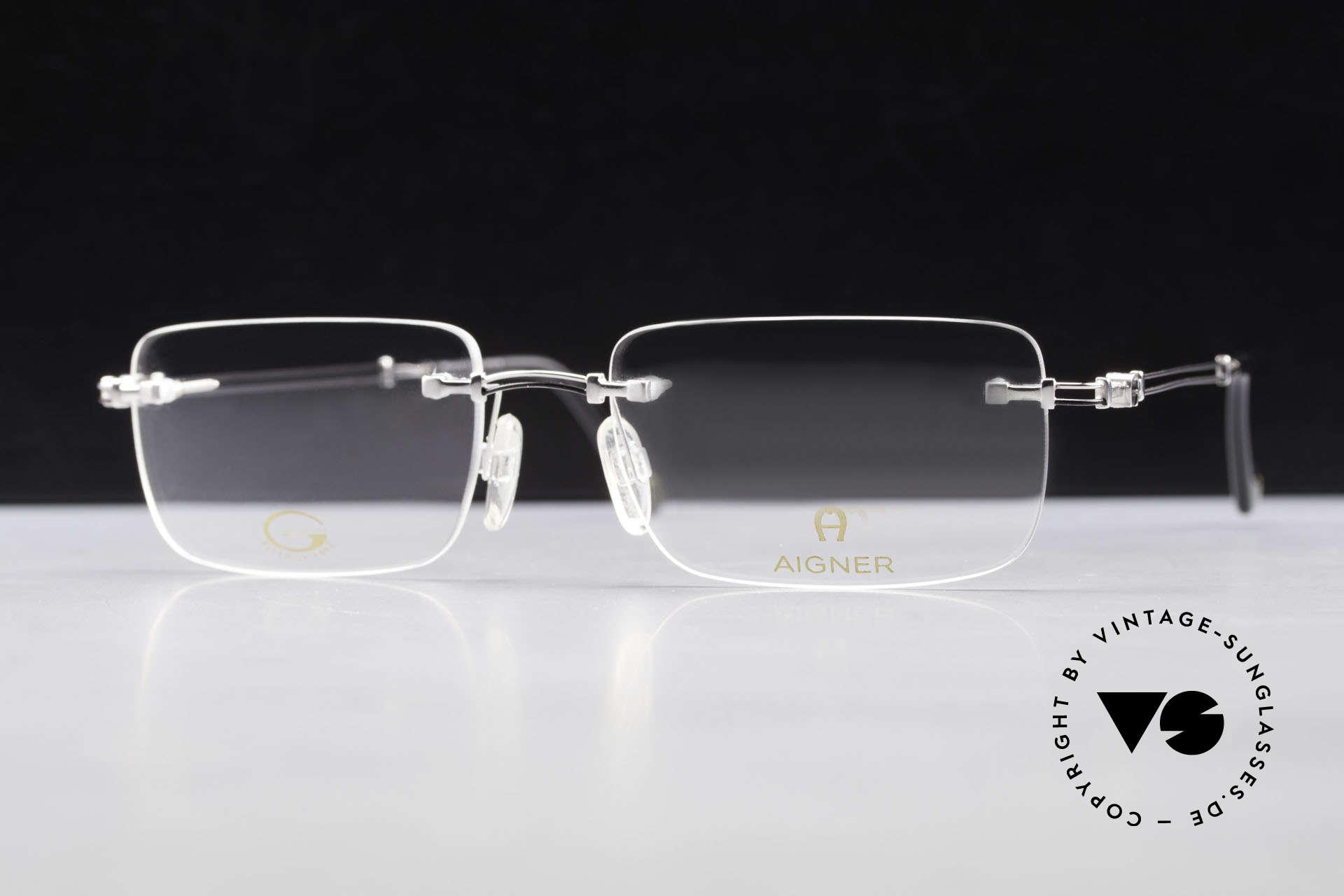 Aigner EA496 Rimless 90's Vintage Glasses, Size: large, Made for Men