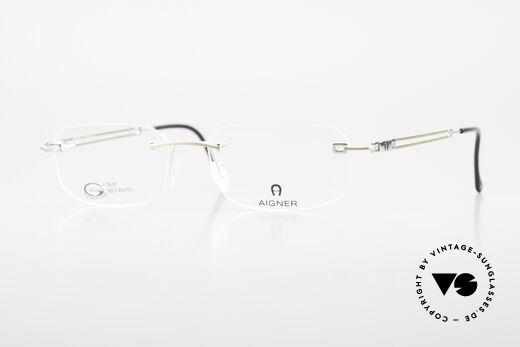 Aigner EA113 Unisex Rimless 90's Glasses Details