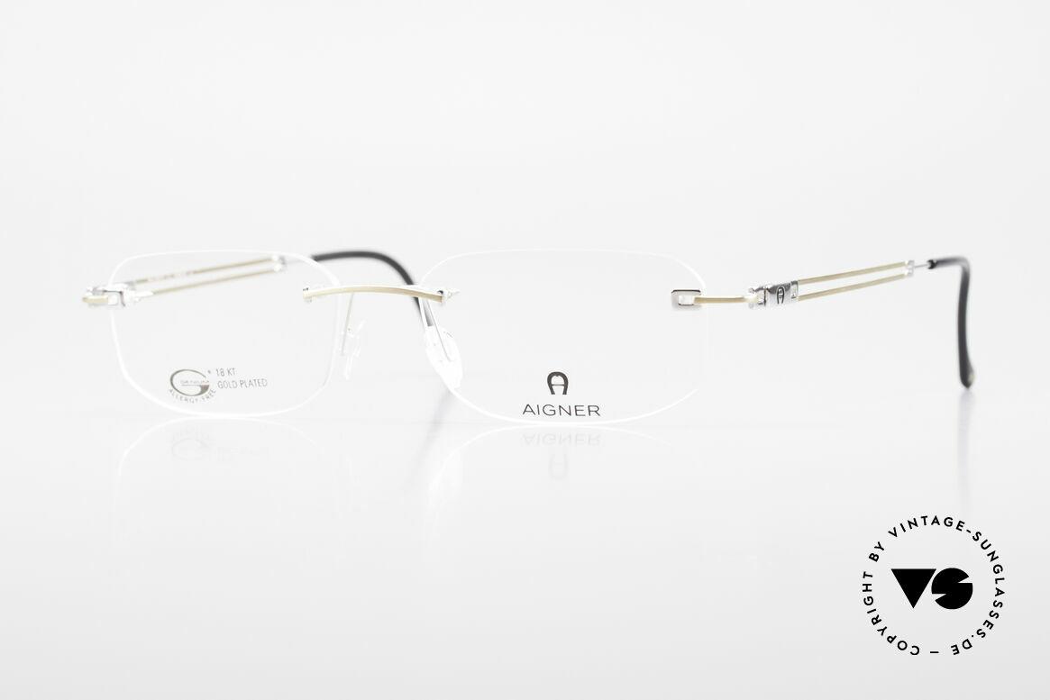 Aigner EA113 Unisex Rimless 90's Glasses, rimless AIGNER vintage glasses, EA113, size 54/17, 140, Made for Men and Women