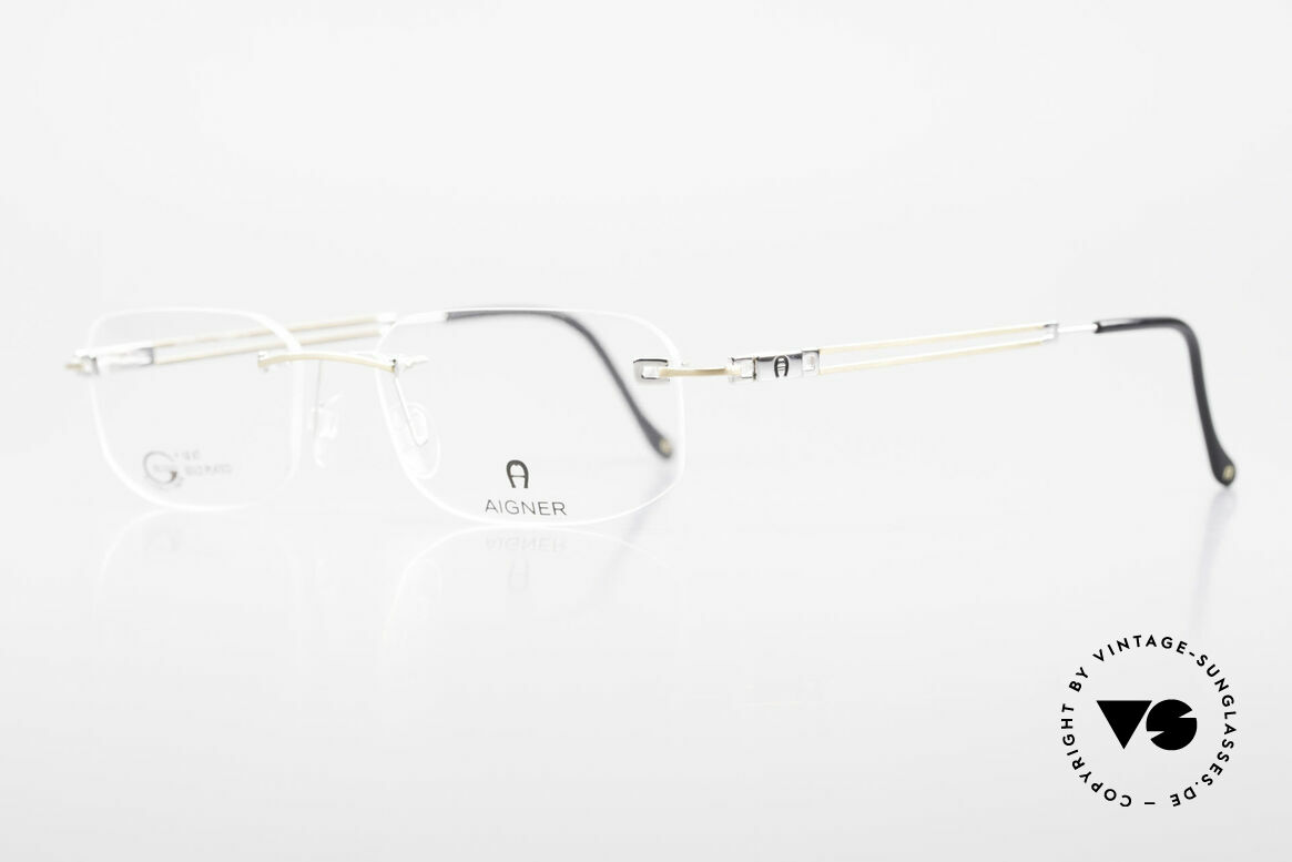 Aigner EA113 Unisex Rimless 90's Glasses, top-notch quality and very pleasant to wear; lightweight, Made for Men and Women