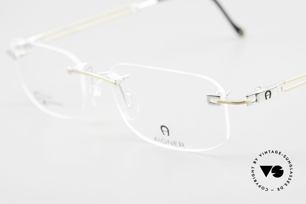 Aigner EA113 Unisex Rimless 90's Glasses, allergy-free and 18kt gold-plated parts; made in Germany, Made for Men and Women