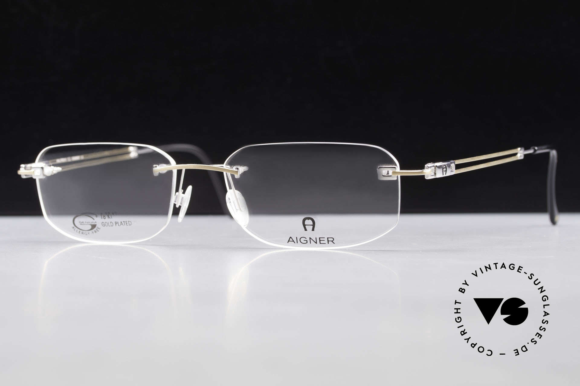 Aigner EA113 Unisex Rimless 90's Glasses, Size: large, Made for Men and Women