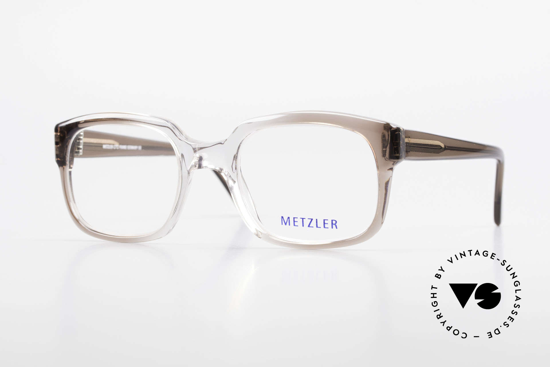 Metzler 7665 Small 80's Old School Eyeglasses, Metzler vintage eyeglasses, 7665, size 52/22, 140, Made for Men