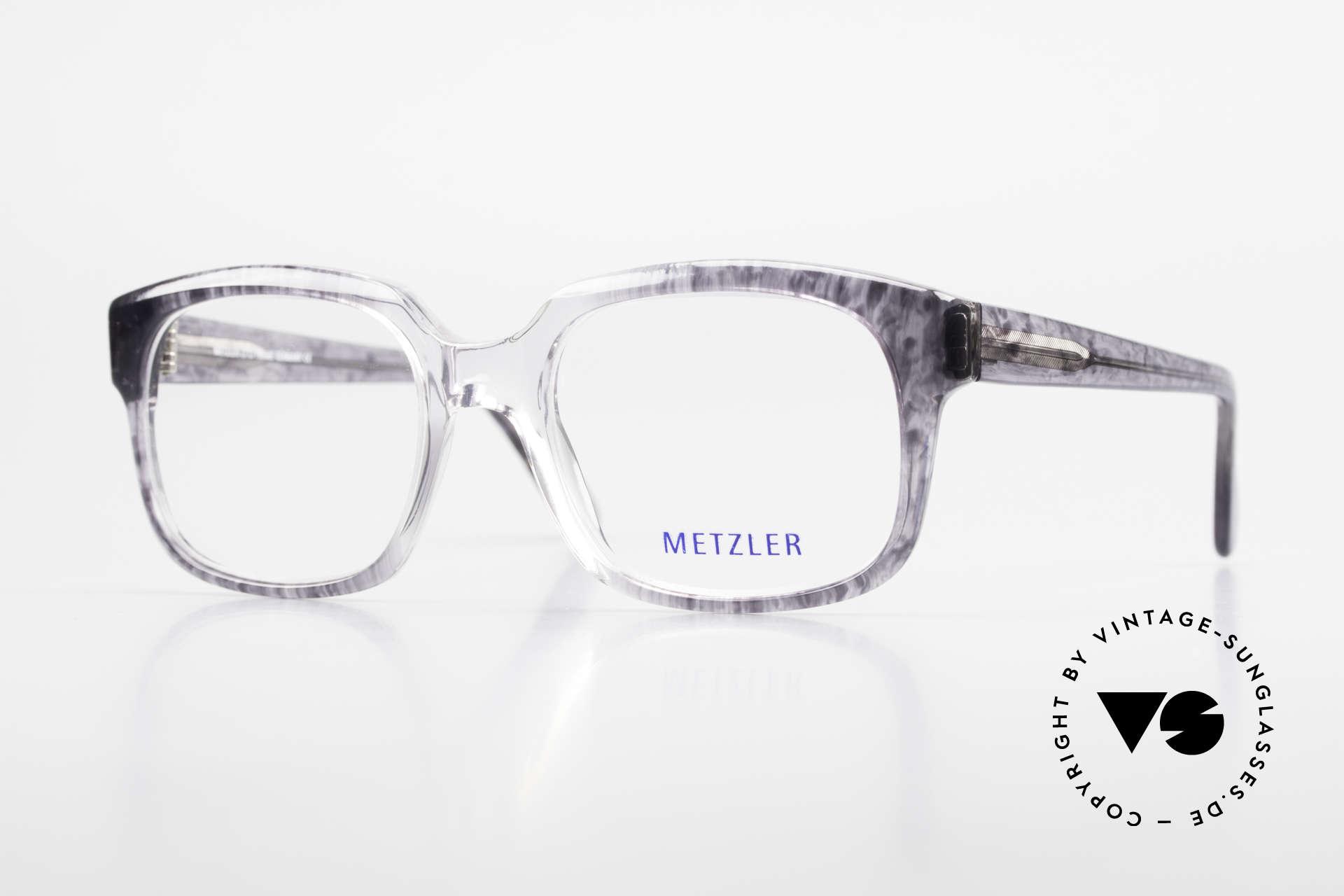 Metzler 7665 Medium 90's Old School Eyeglasses, Metzler vintage eyeglasses, 7665, size 54/20, 140, Made for Men