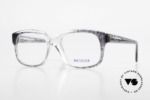 Metzler 7665 Medium 90's Old School Eyeglasses Details