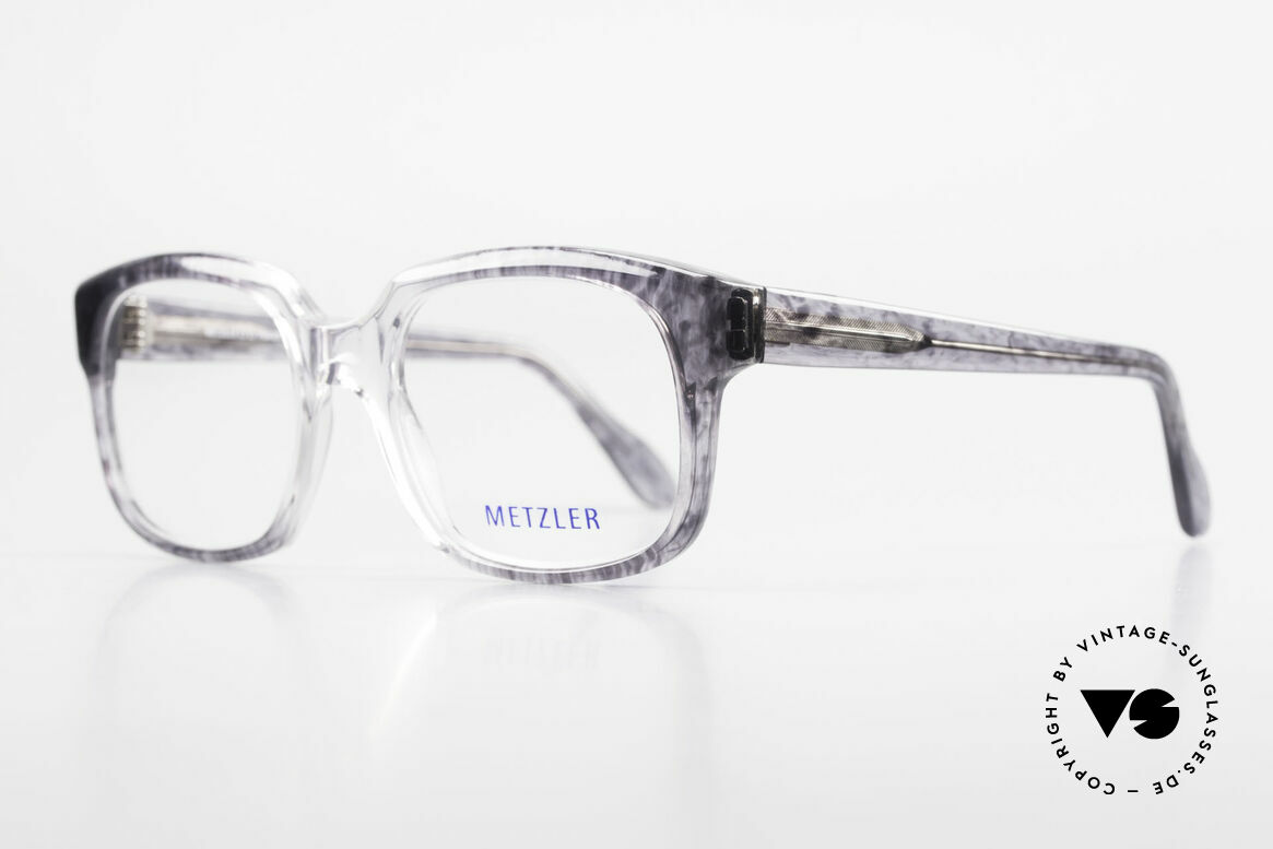 Metzler 7665 Medium 90's Old School Eyeglasses, called as 'old school' glasses or 'nerd specs' today, Made for Men