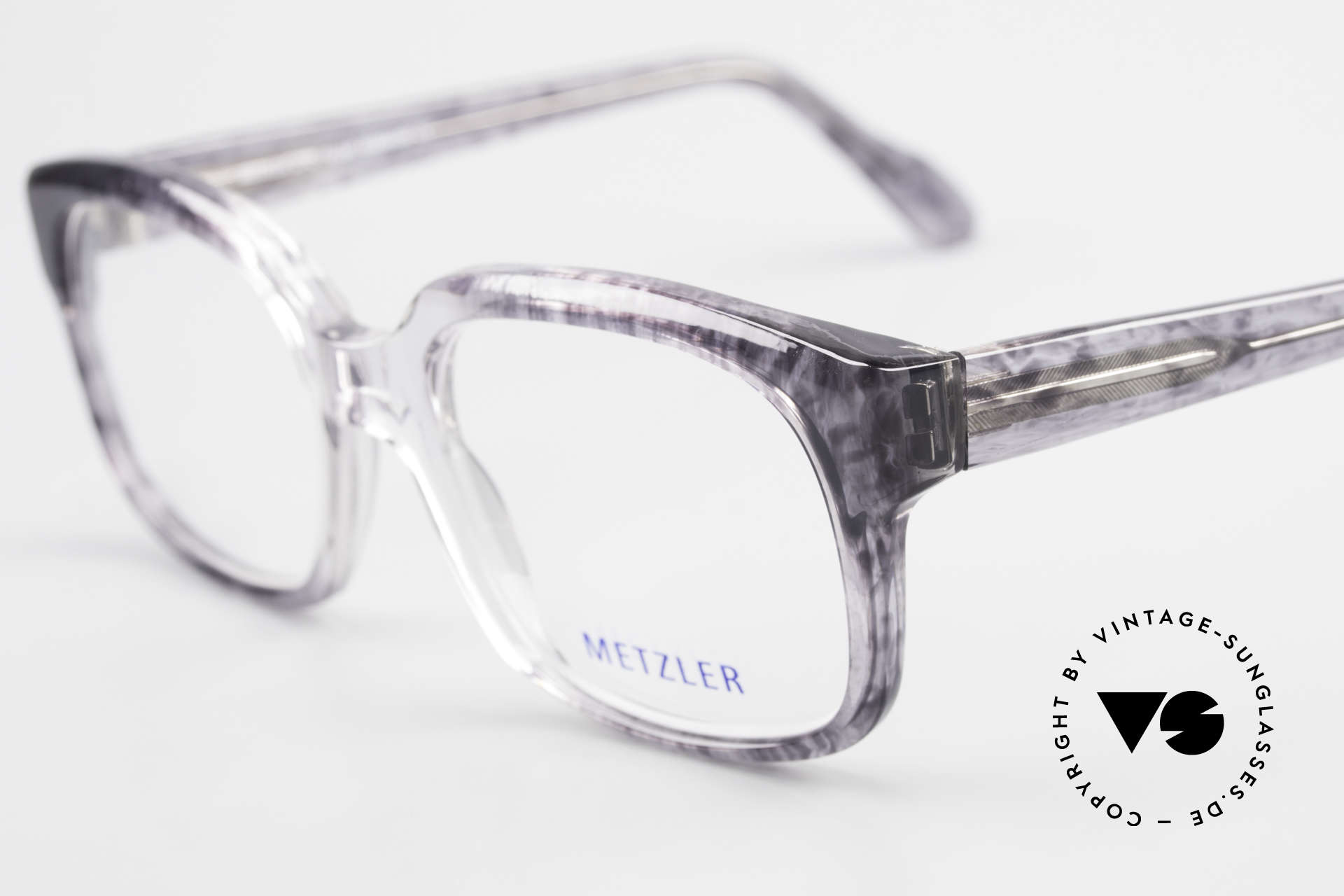Metzler 7665 Medium 90's Old School Eyeglasses, unworn (like all our rare vintage eyeglass-frames), Made for Men
