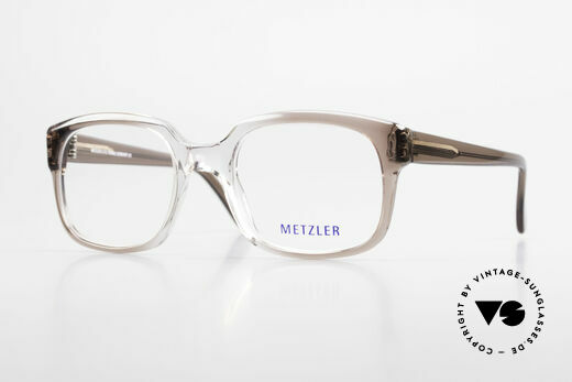 Metzler 7665 Medium Old School Eyeglasses 80's Details