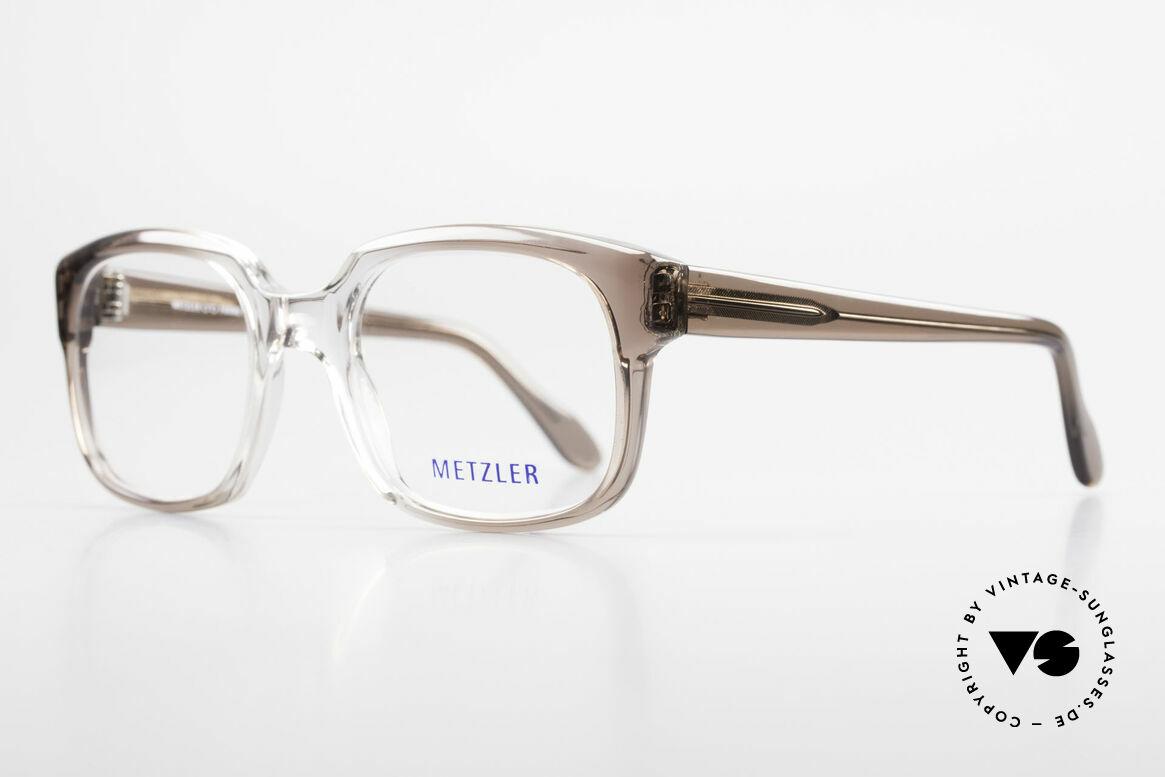 Metzler 7665 Medium Old School Eyeglasses 80's, called as 'old school' glasses or 'nerd specs' today, Made for Men