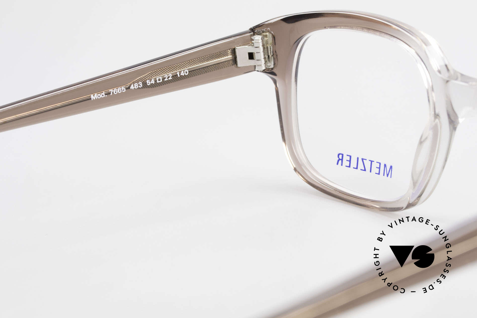 Metzler 7665 Medium Old School Eyeglasses 80's, the frame (in M to L size) can be glazed optionally, Made for Men