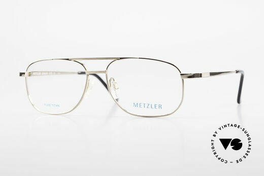 Metzler 1678 Vintage Titan Glasses for Men Details