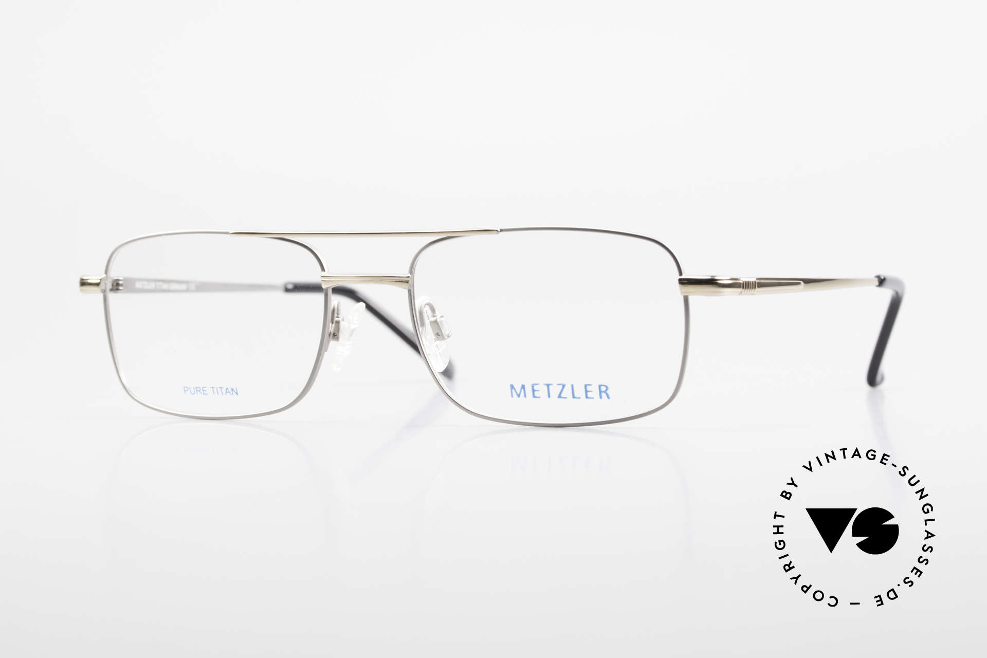 Metzler 1680 90's Titan Eyeglasses For Men, METZLER eyeglasses 1680, col 021, size 56/19, 140, Made for Men