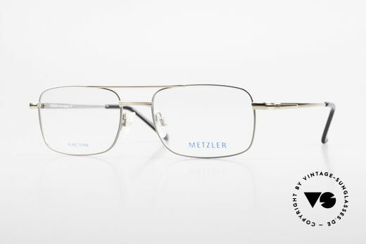 Metzler 1680 90's Titan Eyeglasses For Men Details