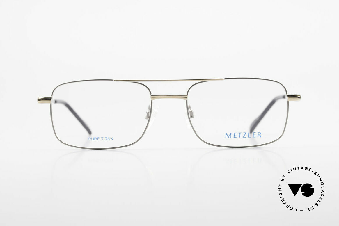 Metzler 1680 90's Titan Eyeglasses For Men, vintage men's glasses by Metzler from the early 90s, Made for Men