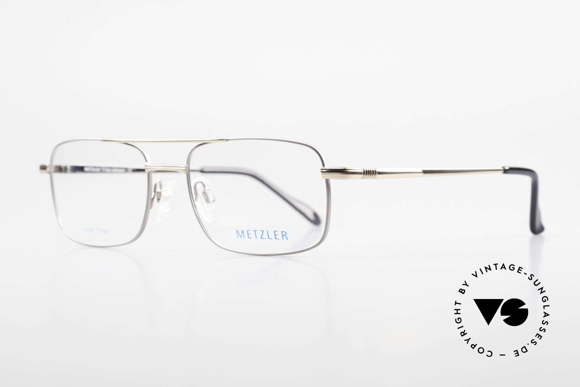 Metzler 1680 90's Titan Eyeglasses For Men, 'made in Germany' quality, PURE TITAN metal frame, Made for Men