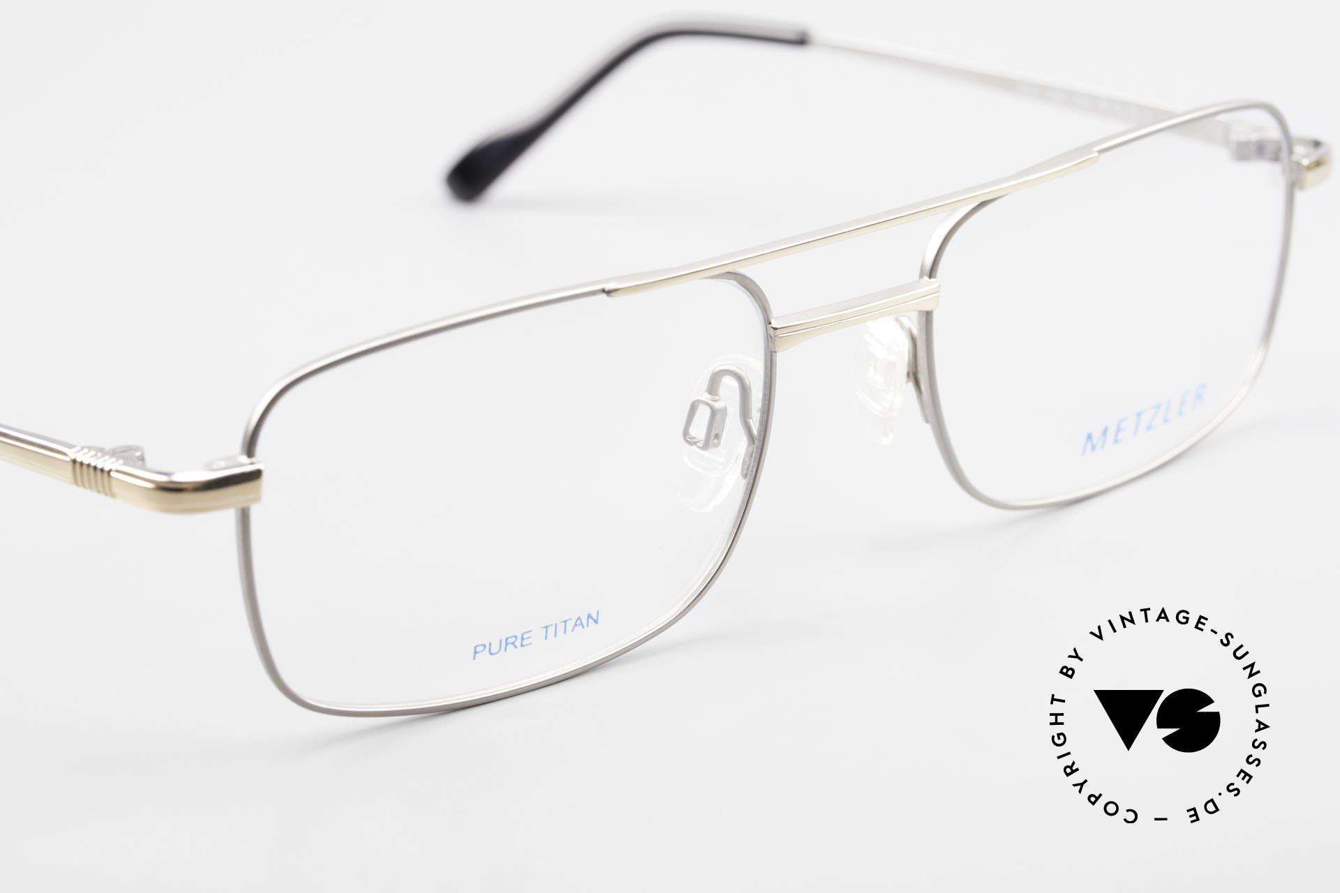 Metzler 1680 90's Titan Eyeglasses For Men, NO RETRO eyewear, but a 30 years old ORIGINAL!, Made for Men