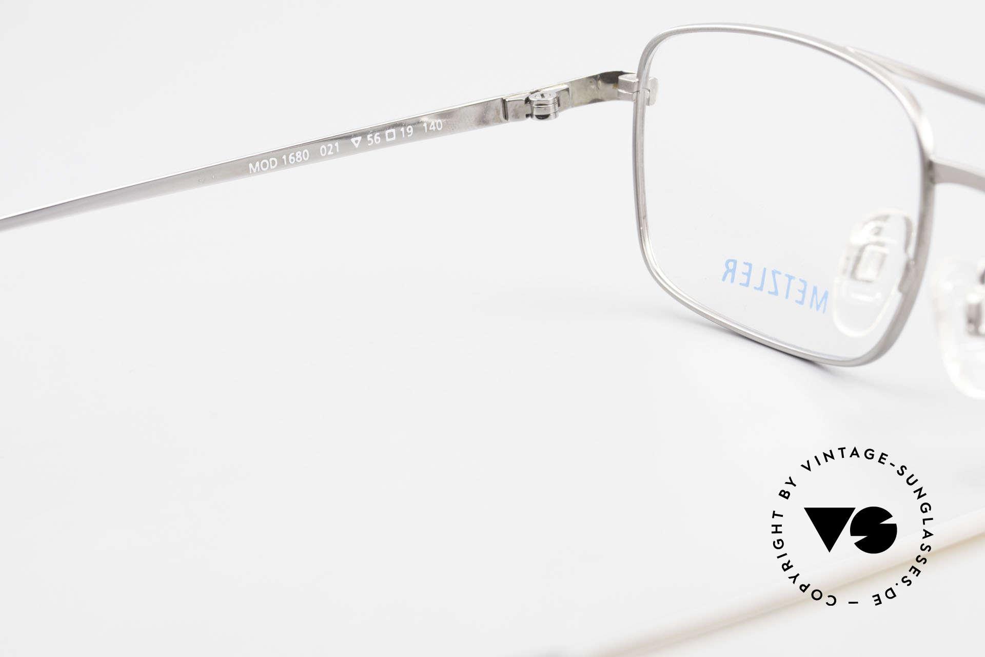 Metzler 1680 90's Titan Eyeglasses For Men, the frame can be glazed with optical (sun) lenses, Made for Men