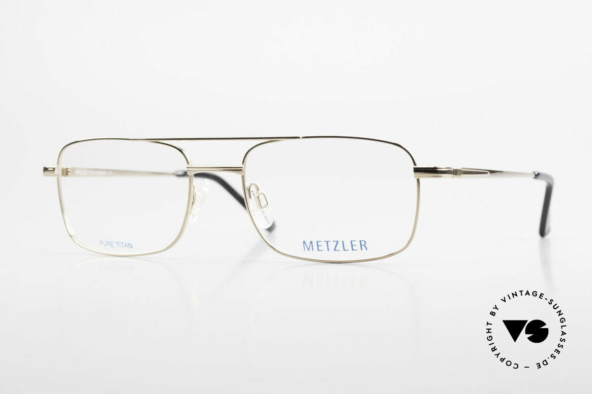Metzler 1680 90's Titan Frame Gold Plated, METZLER eyeglasses 1680, col 689, size 56/19, 140, Made for Men