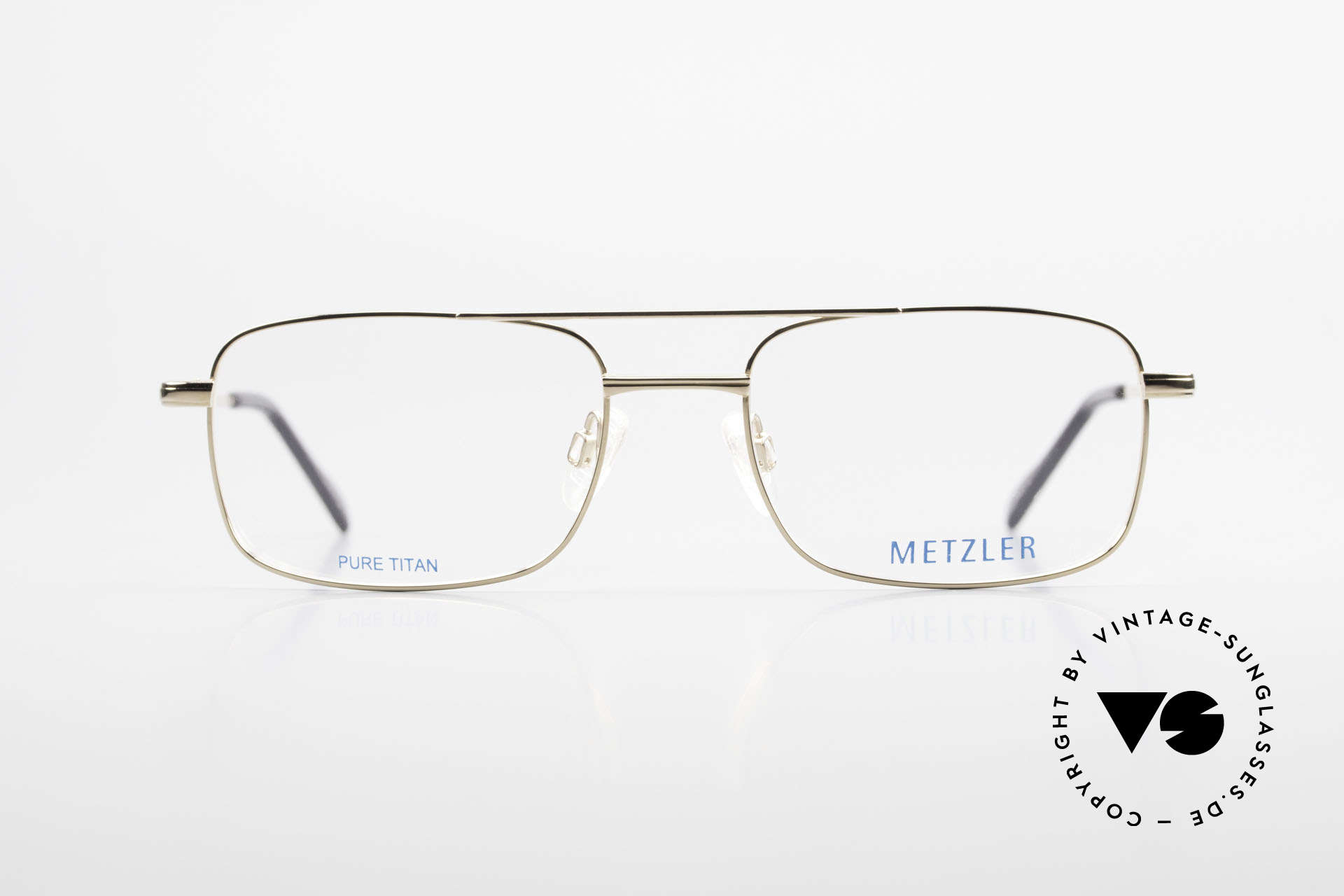 Metzler 1680 90's Titan Frame Gold Plated, vintage men's glasses by Metzler from the early 90s, Made for Men