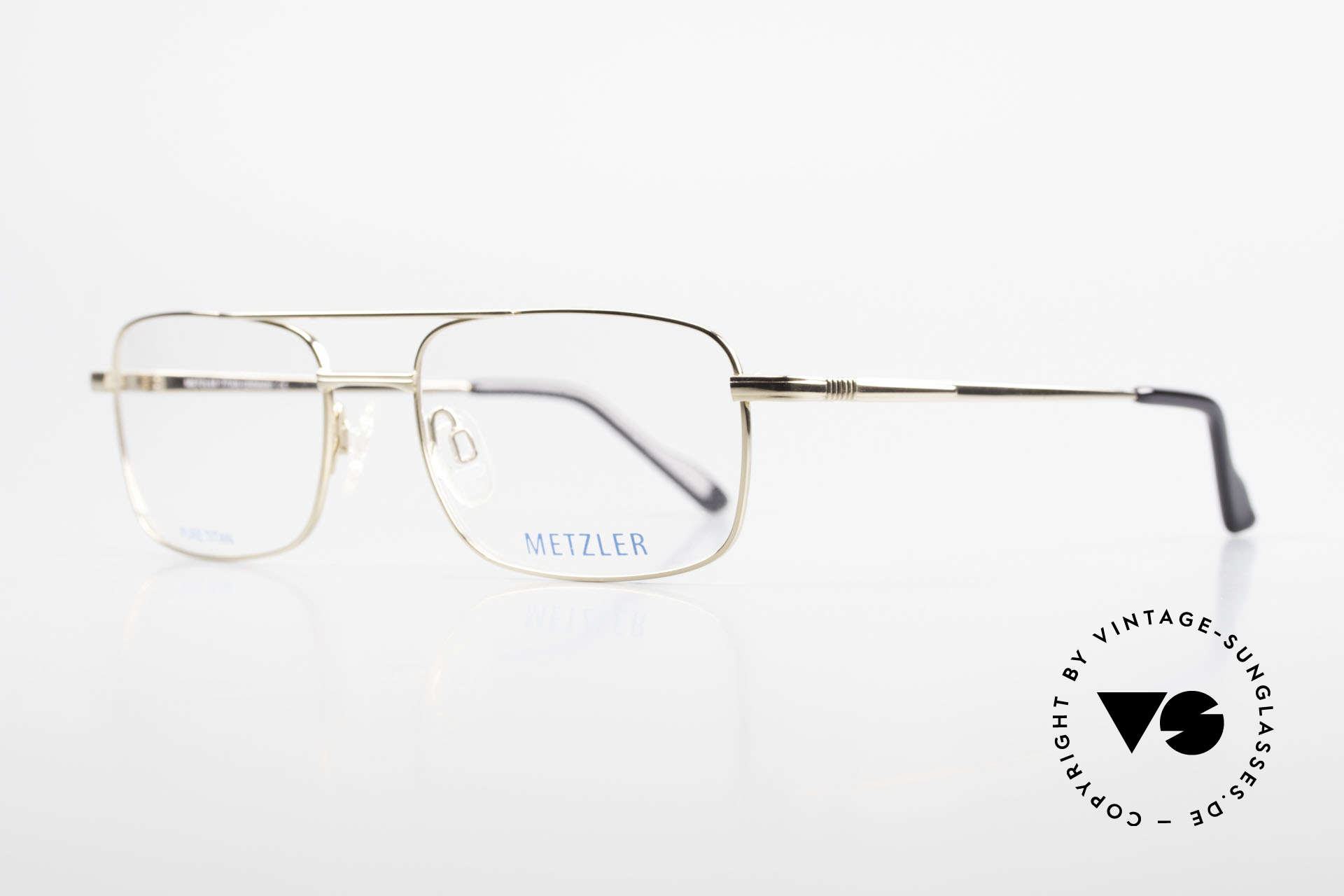 Metzler 1680 90's Titan Frame Gold Plated, 'made in Germany' quality: gold-plated titan frame, Made for Men