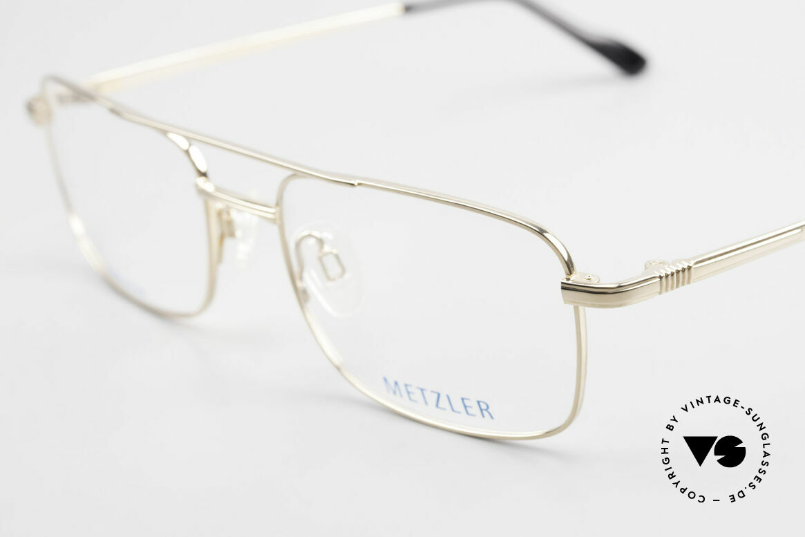 Metzler 1680 90's Titan Frame Gold Plated, never worn (like all our rare vintage 90s eyeglasses), Made for Men