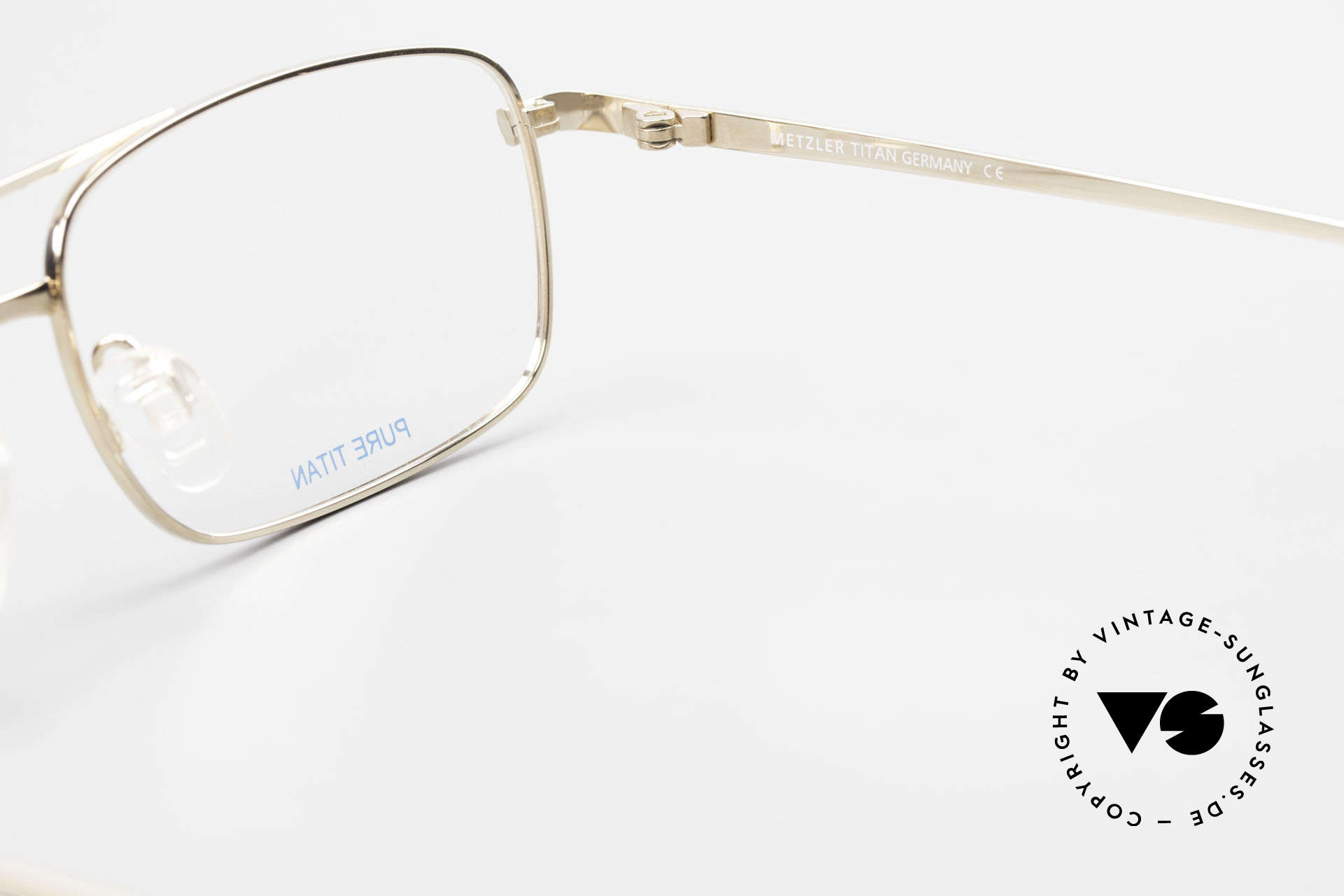 Metzler 1680 90's Titan Frame Gold Plated, Size: extra large, Made for Men