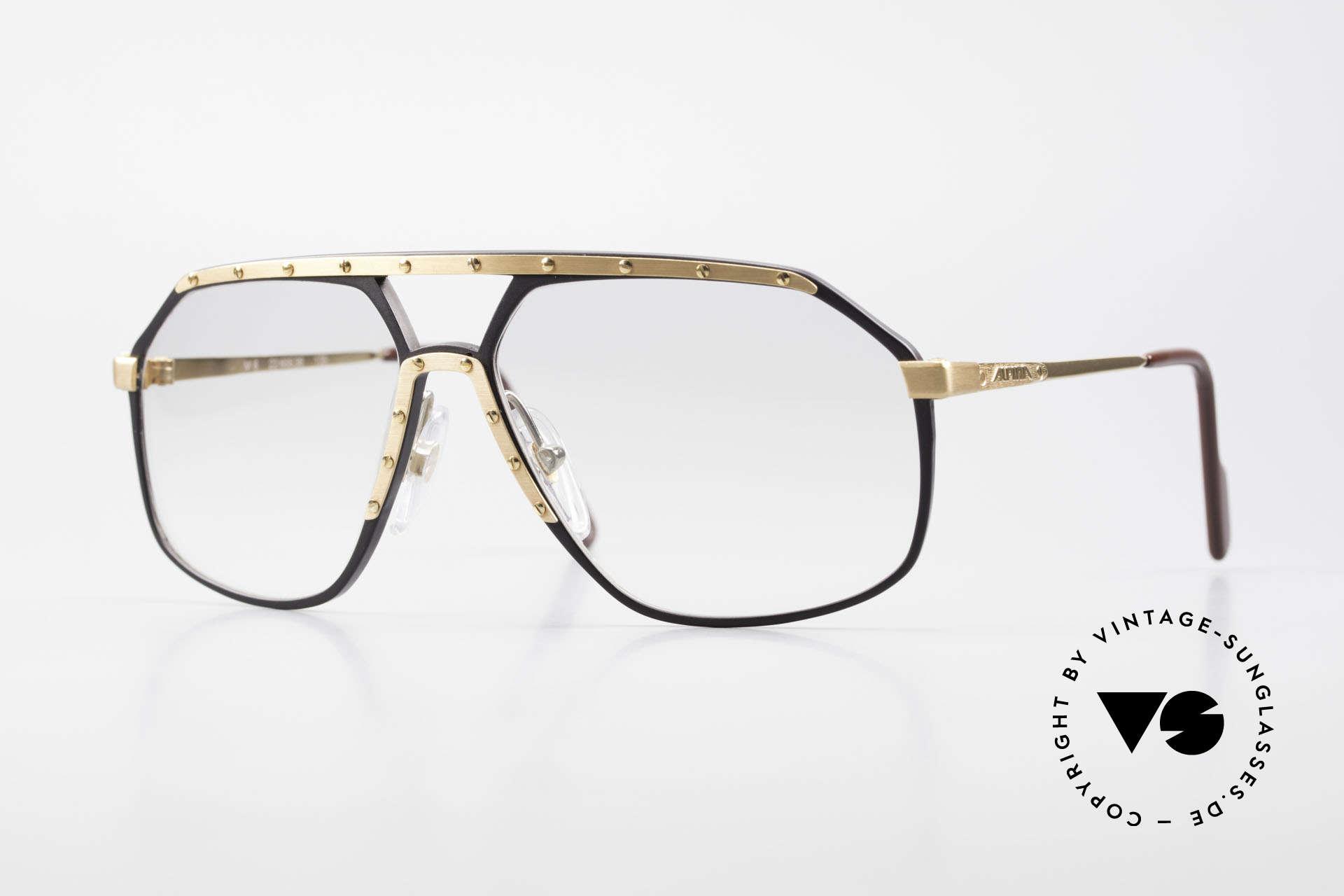 Alpina M6 80's Glasses Light Tinted Lens, legendary Alpina M6 vintage designer sunglasses, Made for Men