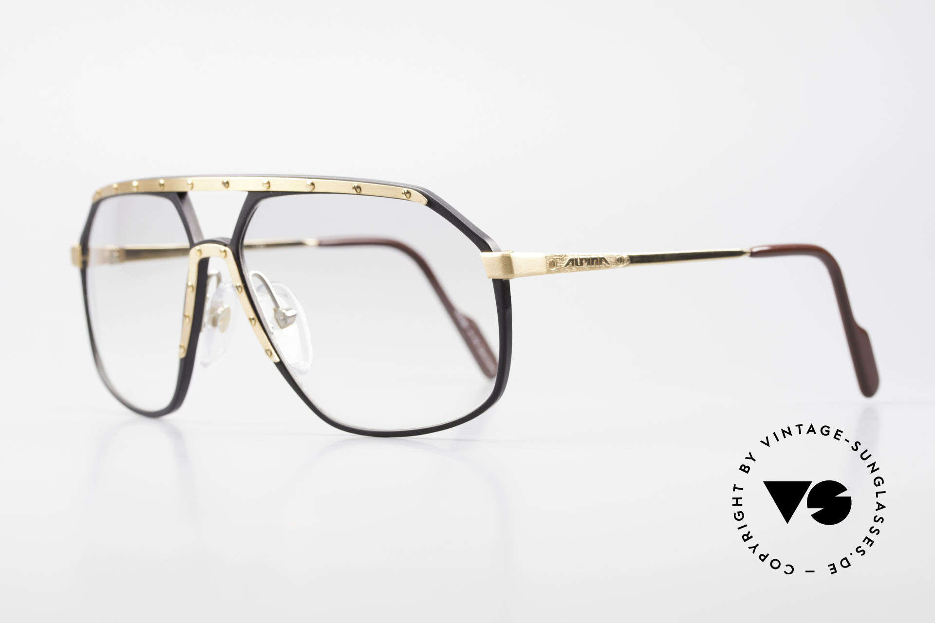 Alpina M6 80's Glasses Light Tinted Lens, famous for the 'W.Germany' frame and the screws, Made for Men