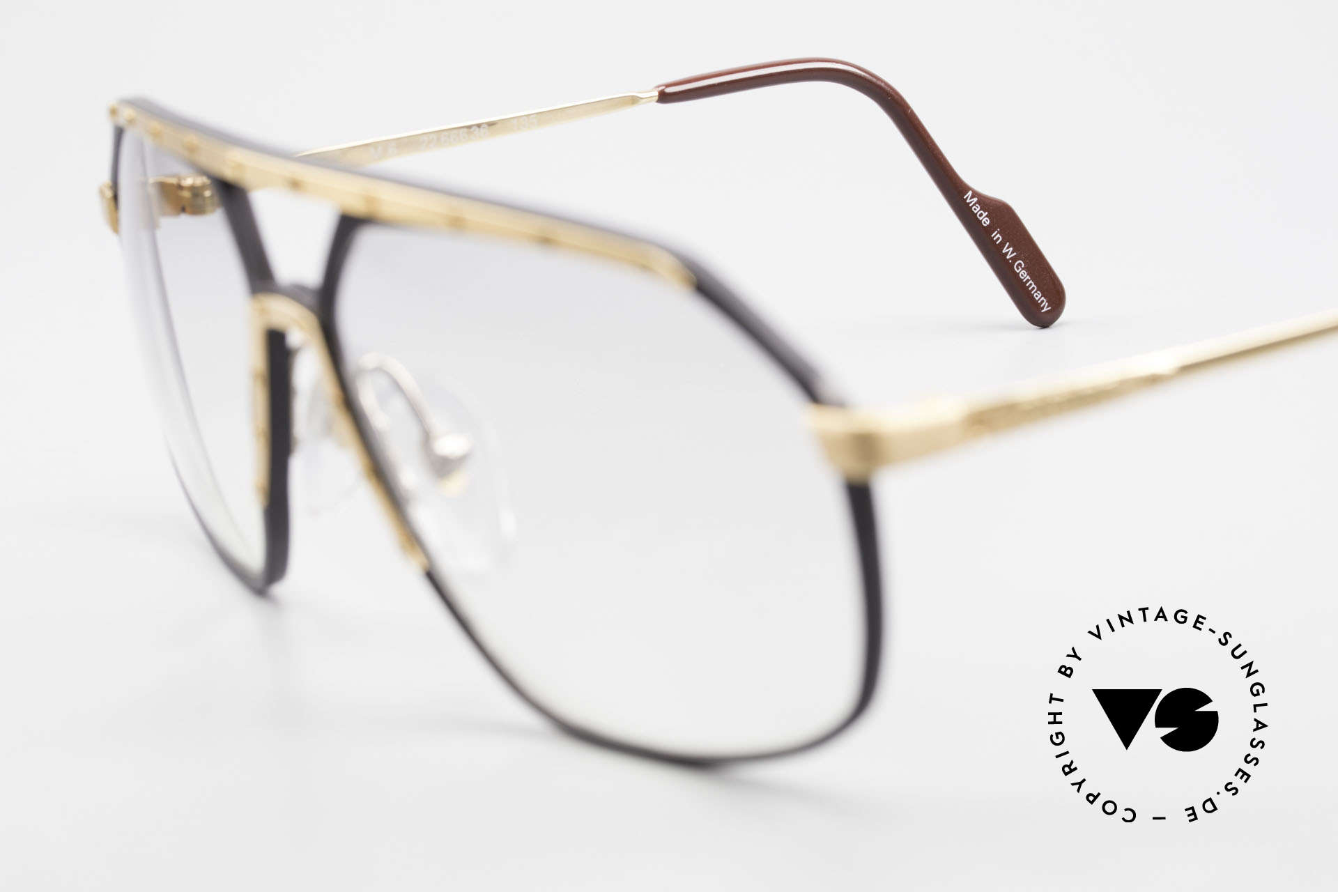 Alpina M6 80's Glasses Light Tinted Lens, one of the most wanted vintage models, worldwide, Made for Men