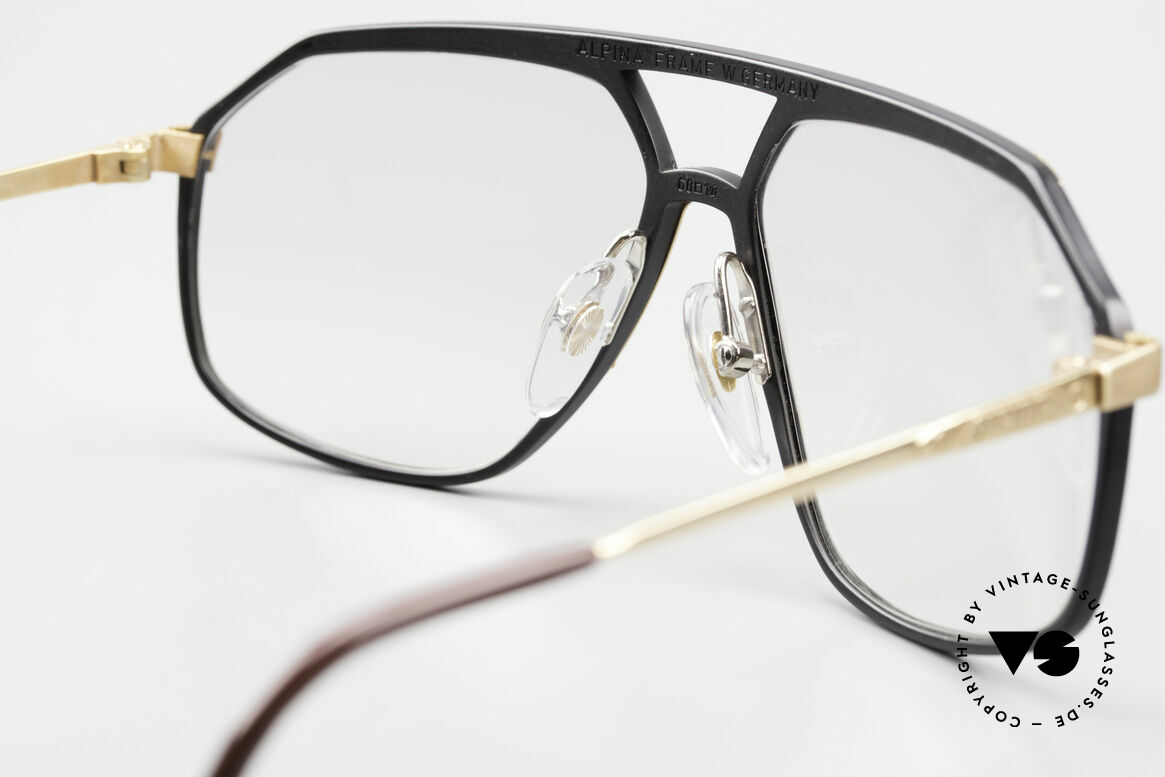 Alpina M6 80's Glasses Light Tinted Lens, very light gray tinted lenses; also wearable at night, Made for Men