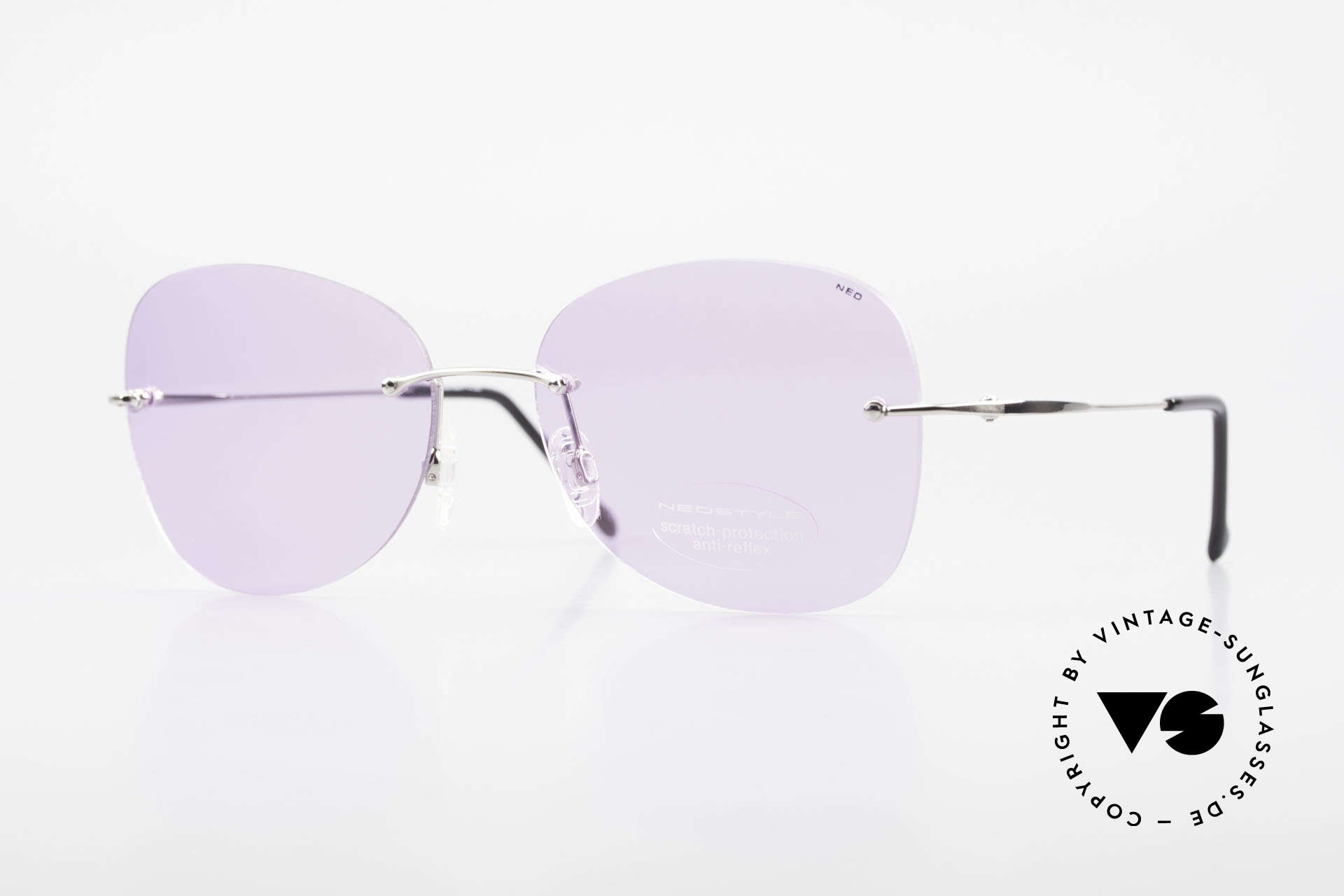 Neostyle Holiday 2051 Rimless XXL Sunglasses Ladies, rimless XXL sunglasses for ladies from the 1990s, Made for Women
