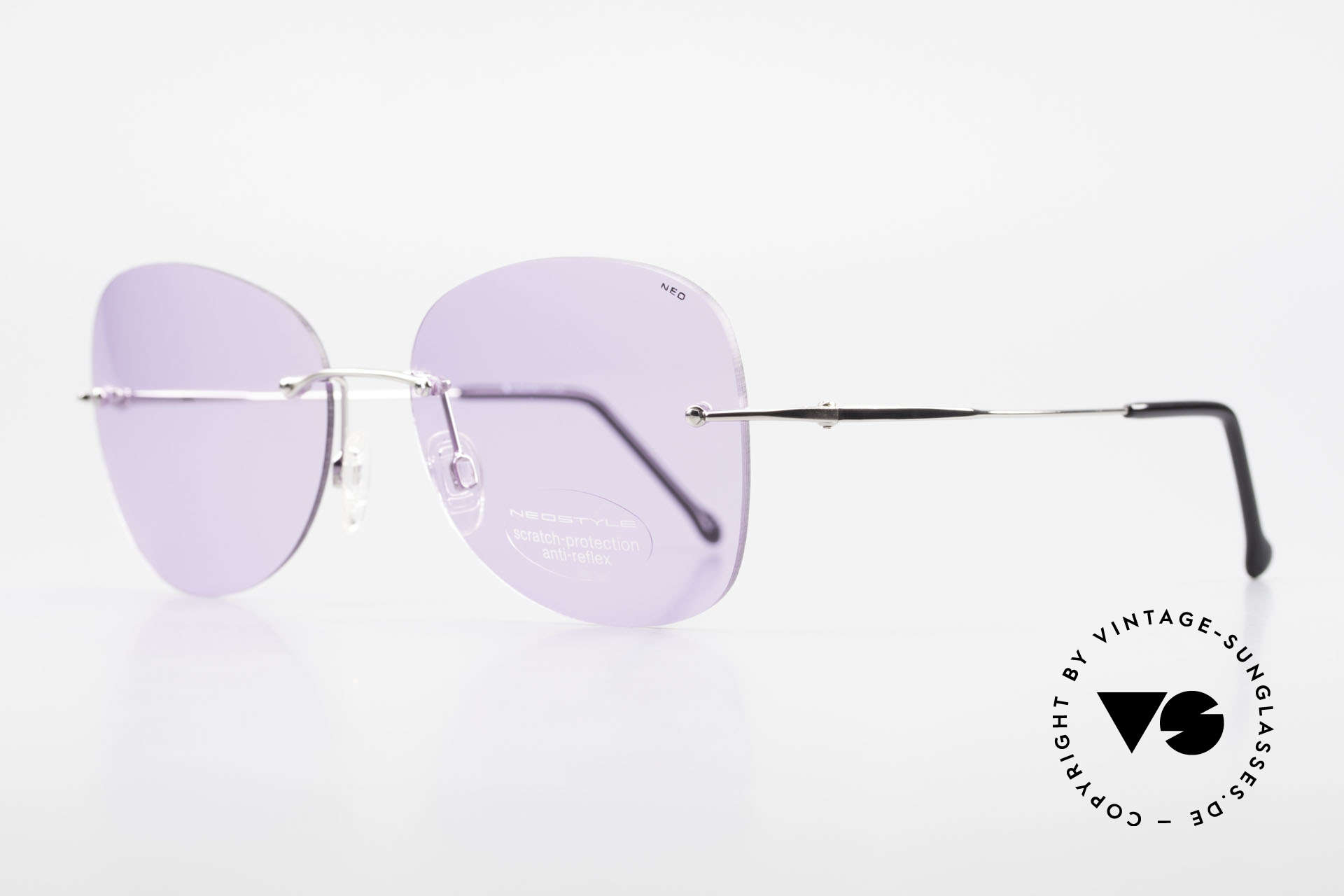 Neostyle Holiday 2051 Rimless XXL Sunglasses Ladies, oversized shades = enchanting fashion accessory, Made for Women