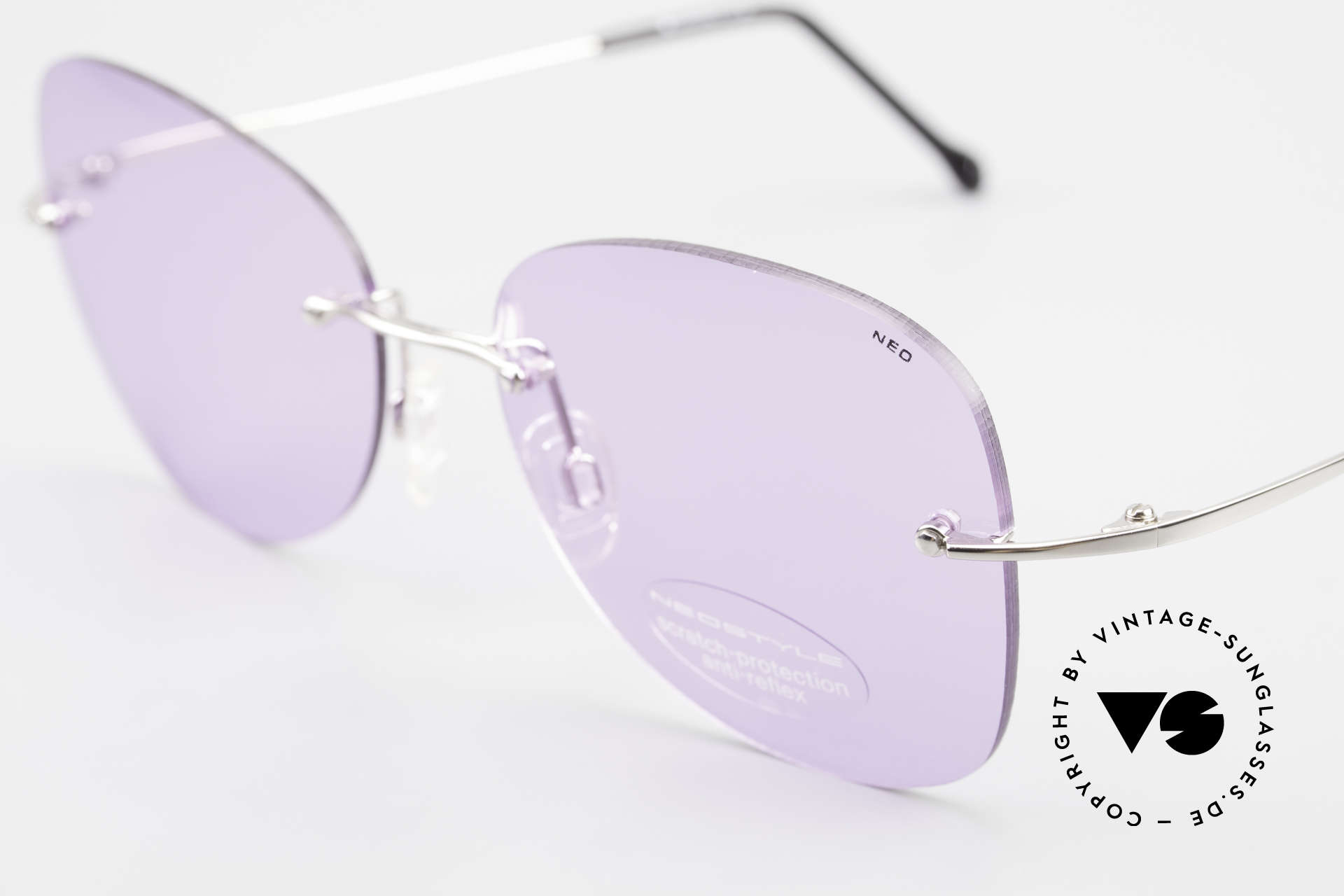 Neostyle Holiday 2051 Rimless XXL Sunglasses Ladies, 1st class quality from Germany (100% UV protect.), Made for Women