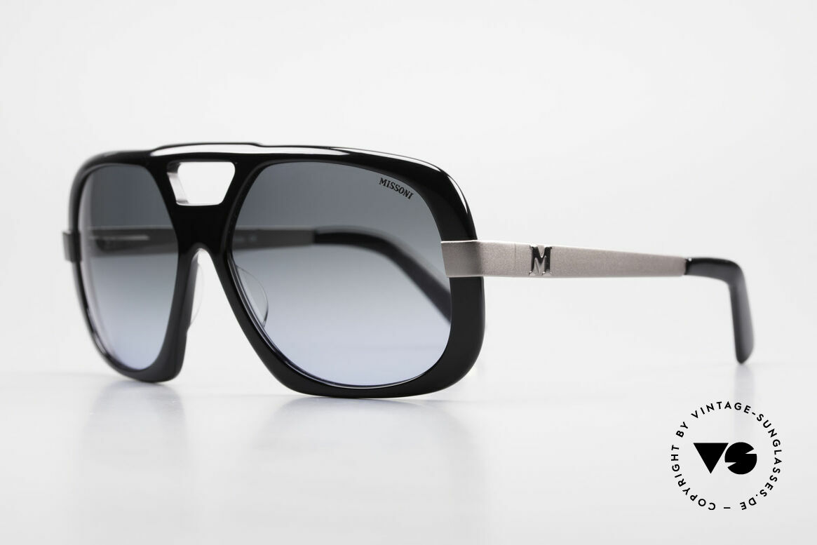 Missoni 0102 Striking 90's Sunglasses Men, enormous high wearing comfort due to spring hinges, Made for Men