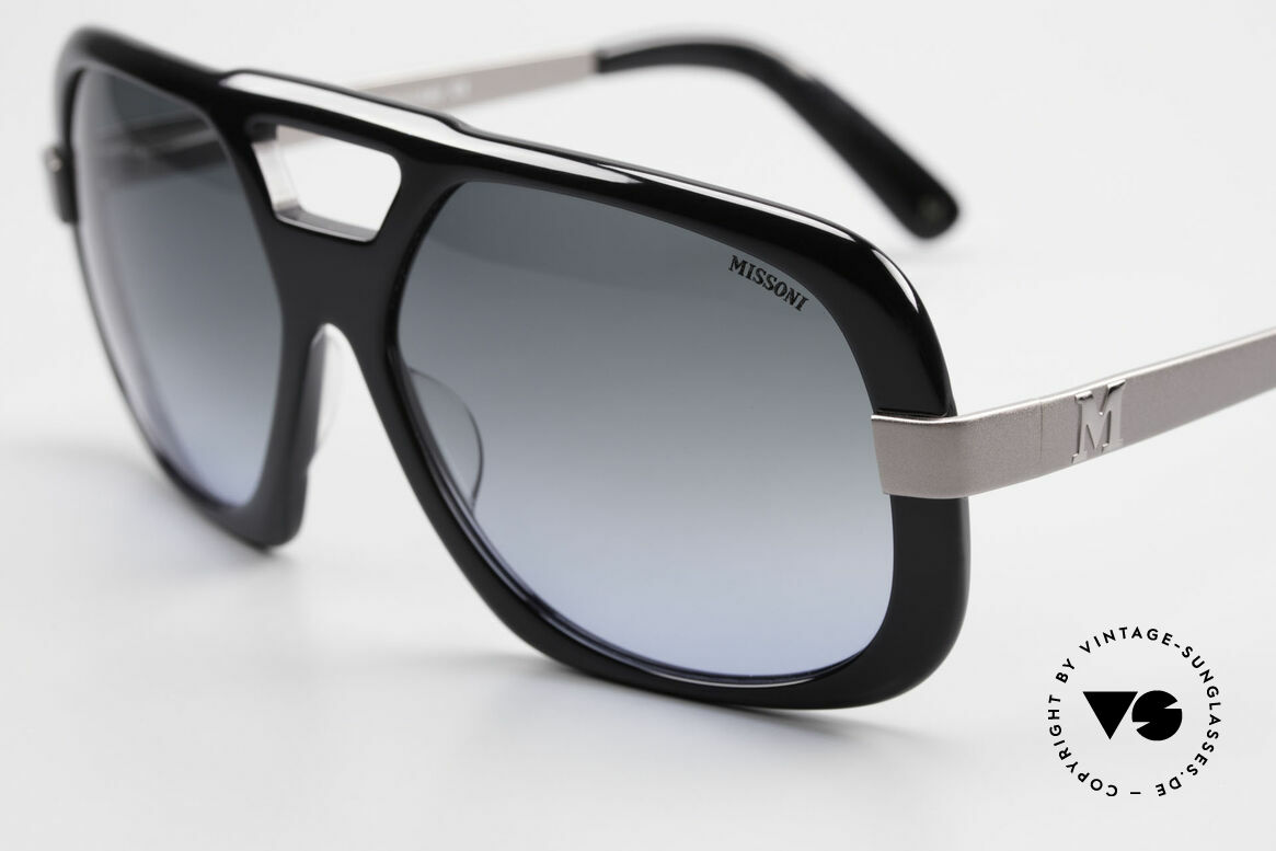 Missoni 0102 Striking 90's Sunglasses Men, very noble sun lenses with gradient from gray to blue, Made for Men