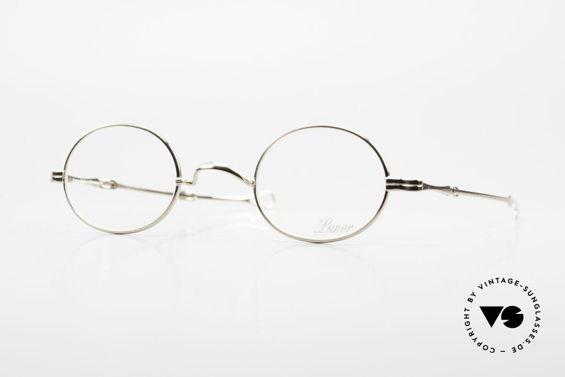 Lunor I 10 Telescopic Lunor Glasses Oval Slide Temple, telescopic eyeglasses by LUNOR; a true eyewear classic!, Made for Men and Women
