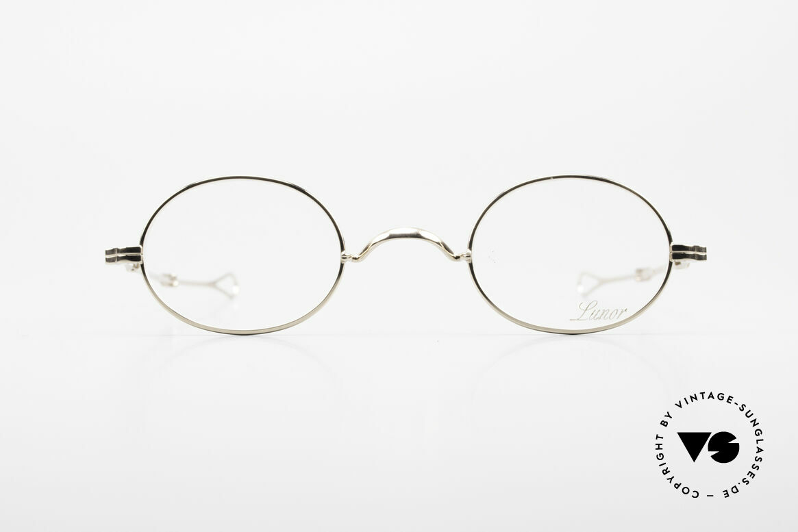 Lunor I 10 Telescopic Lunor Glasses Oval Slide Temple, classy, minimalist eyeglass-frame with timeless elegance, Made for Men and Women