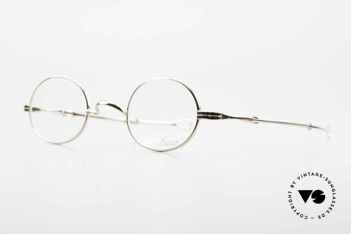 Lunor I 10 Telescopic Lunor Glasses Oval Slide Temple, traditional German brand; quality handmade in Germany, Made for Men and Women