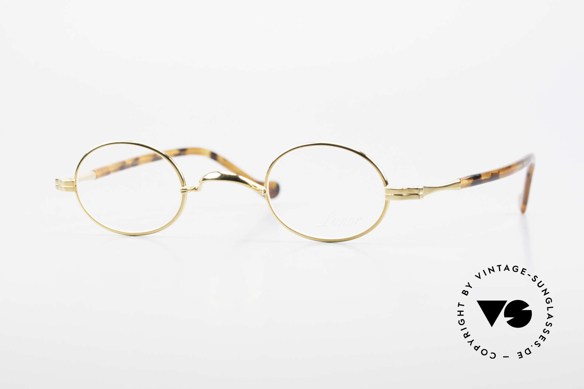 """Lunor II A 04 Lunor Glasses Oval Gold Plated, small oval Lunor glasses of the old Lunor """"II-A"""" series, Made for Men and Women"""