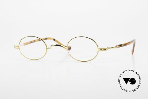 Lunor II A 04 Lunor Glasses Oval Gold Plated Details