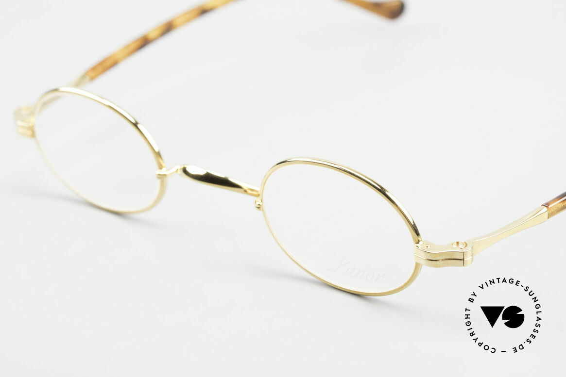 Lunor II A 04 Lunor Glasses Oval Gold Plated, noble, classy, timeless = a genuine LUNOR ORIGINAL!, Made for Men and Women