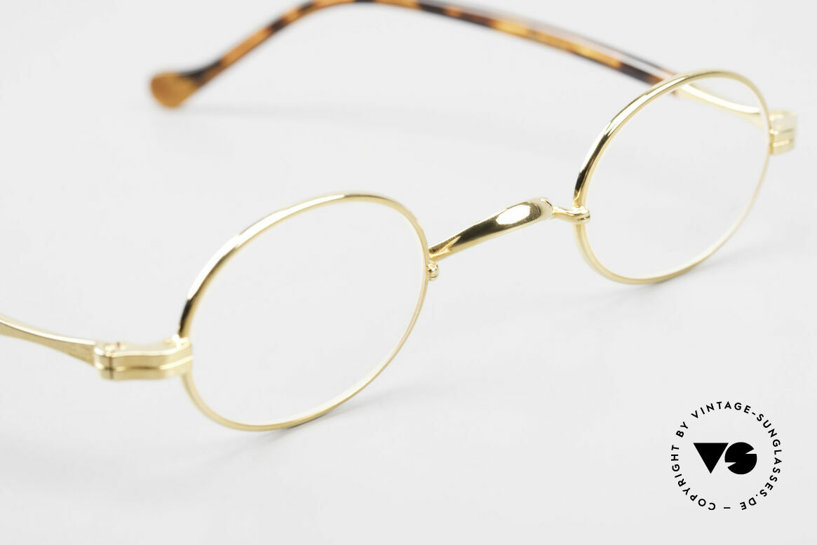Lunor II A 04 Lunor Glasses Oval Gold Plated, unworn RARITY (for all lovers of quality) from app. 1998, Made for Men and Women