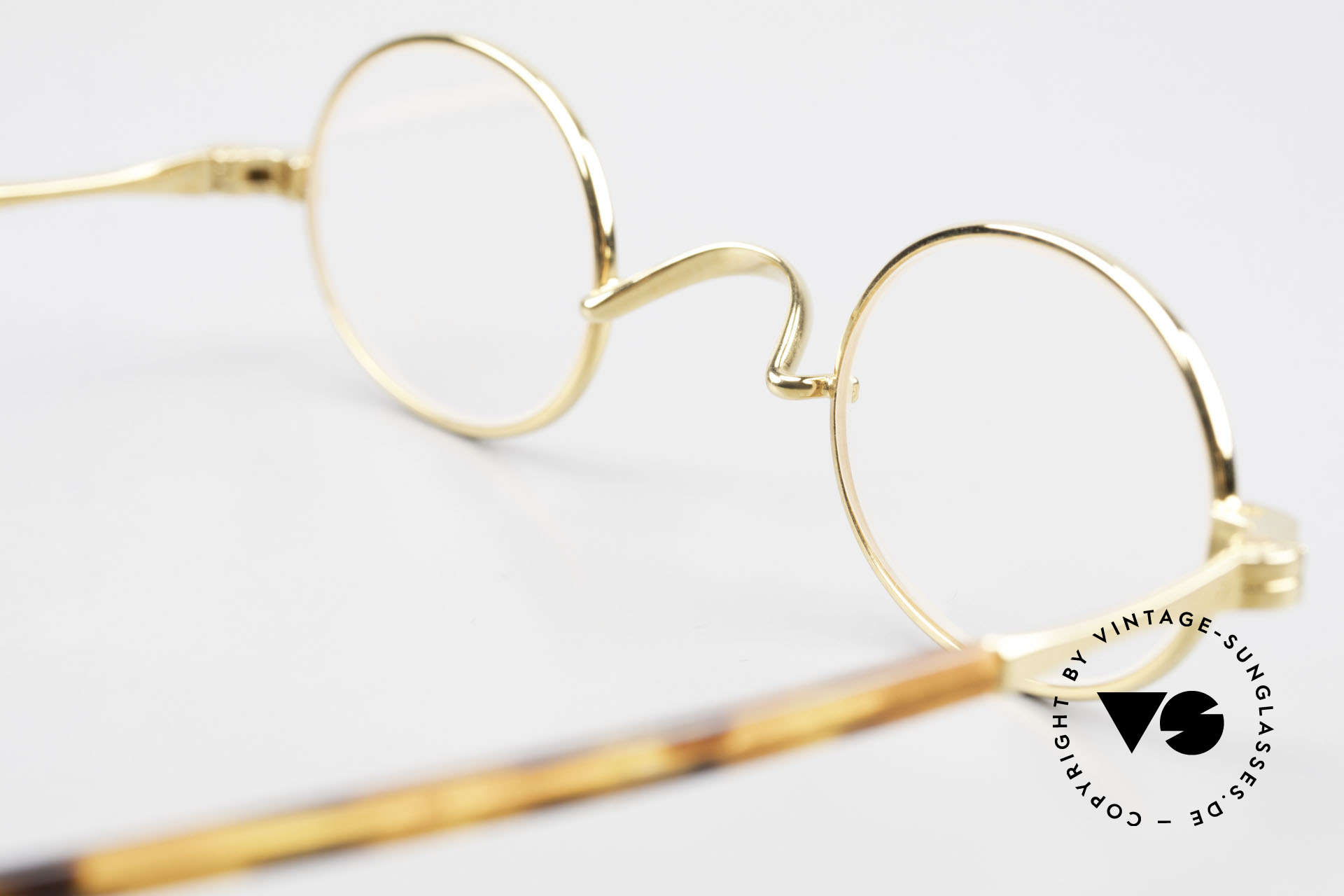 Lunor II A 04 Lunor Glasses Oval Gold Plated, Size: small, Made for Men and Women